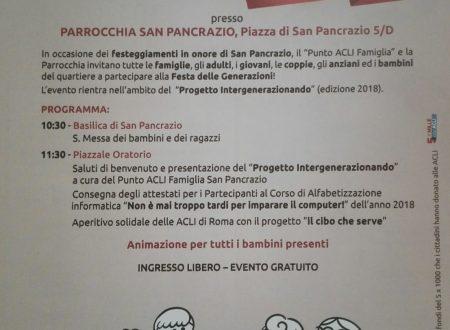 Festa delle Generazioni – domenica 6 maggio 2018 – Parrocchia San Pancrazio, Roma