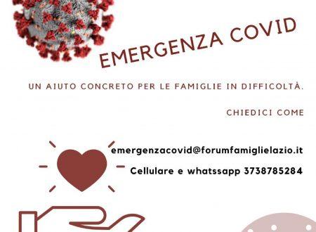 Buoni spesa: iniziativa del Forum delle Associazioni familiari del Lazio per l'emergenza Covid19